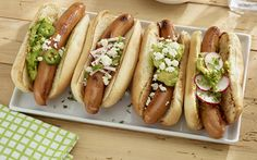 Grilled Franks with Guacamole Recipe on Yummly. @yummly #recipe