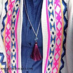 Gold Tassel Necklace; Teacher Inspiration; Teacher Style