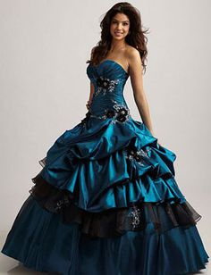 super pretty blueish black ballgown