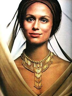 Turban Chic  Lauren Hutton for Monet, 1971.