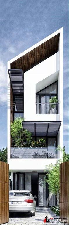 Ideas for apartment house facade modern Architecture Design, Facade Design, Residential Architecture, Contemporary Architecture, Exterior Design, Arch House, Facade House, Townhouse Designs, Balkon Design