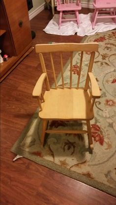 Child's rocking chair before