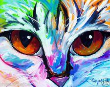 Marc Broadway. Portrait of cat using colorwheel