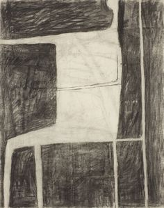 William Scott, Untitled, 1953, Charcoal on paper, 61 x 49 cm / 24 x 19¼ in, Private collection
