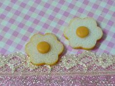 2 pcs Flower Shade Fried Egg  Miniature Food Faux by forestdiy, $0.99