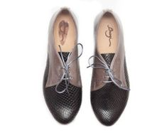Venta Negro Oxford zapatos planos. Zapatos oxford por ImeldaShoes