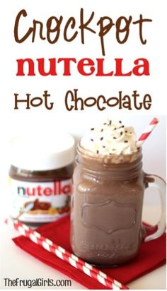 If you're a fan of Nutella. I've got just the thing! Go grab the Crockpot. it's time for some Crockpot Nutella Hot Chocolate!} Crockpot Nutella Hot Chocolate is also the perfect add. Nutella Hot Chocolate, Hot Chocolate Recipes, Crockpot Hot Chocolate, Nutella Cake, Chocolate Cake, Slow Cooker Recipes, Crockpot Recipes, Cooking Recipes, Crockpot Drinks