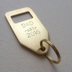 Brass bottle opener keyring - DAD est 2016