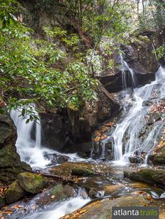 Hike the Benton MacKaye Trail and Appalachian Trail through the waterfall-filled Three Forks valley, just south of the gorgeous Long Creek Falls