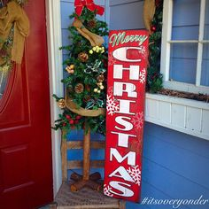LIKE THE DETAILS OF THE LETTERING AND THE SNOW FLAKES!!! Rustic Pallet Sign
