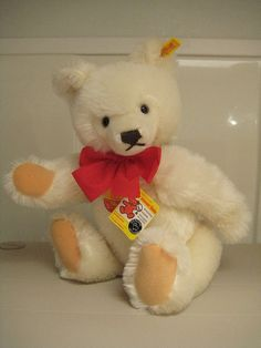Steiff Vintage Original Large White Teddy Bear - Over 14 Inches - 1983 to 1987 - EAN 0203/41