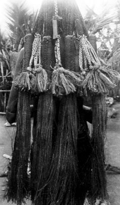 Papua (Indonesia) ~ Merauke regency | Details of the hairstyle from a Marind woman | ca. 1907/8 | Photographer OG Heldringstraat