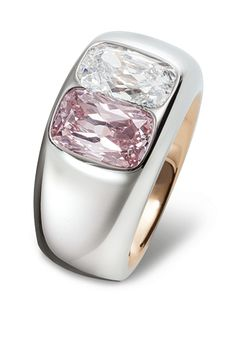 diamonds - pink gold - stainless steel 2011