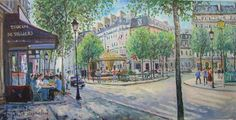 (Yetvart Kaprielian , unknown year) Paris Street, Perspective, Painting, Ideas, Art, Craft Art, Perspective Photography, Paintings, Kunst