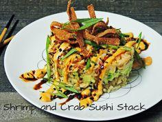 Shrimp and Crab Sushi Stack