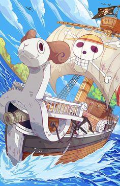 Going merry/ Strawhat pirates/ One piece manga ⚓⚓⚓ One Piece Manga, One Piece Figure, One Piece Fanart, One Piece Wallpapers, Animes Wallpapers, Manga Anime, Anime One, Manga Girl, Basset Dachshund