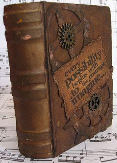 a steampunk altered book