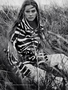 Stina Olsson by Eric Josjo for Elle Sweden November 2014