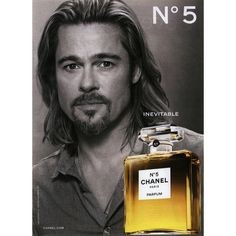 Chanel Fragrance Ad Campaign Mens № 5 - MyFDB ❤ liked on Polyvore featuring ad campaign