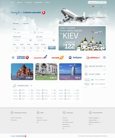 Airline Tickets Site Design on Web Design Served