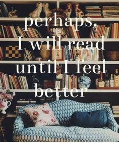 I love books and they have saved me throughout my life of living with Fibromyalgia