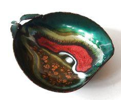 Vintage Enamel Copper Plate Smalti D'Arte Fruit by ZeitepochenShop, €29.00