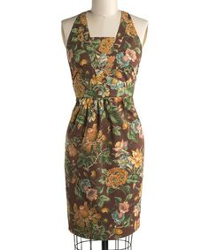 Take a look at this Chocolate Flower Market Apron - Women by April Cornell on #zulily today! $12.99