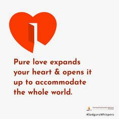 Pure love expands your heart & opens it up to accommodate the whole world. Your Heart, Booklet, Life Hacks, Love Quotes, Prayers, Spirituality, Pure Products, Design, Qoutes Of Love