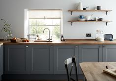 Uplifting Kitchen Remodeling Choosing Your New Kitchen Cabinets Ideas. Delightful Kitchen Remodeling Choosing Your New Kitchen Cabinets Ideas. Grey Shaker Kitchen, Shaker Style Kitchen Cabinets, Shaker Style Kitchens, Kitchen Cabinet Styles, Farmhouse Kitchen Cabinets, Kitchen Cabinet Doors, New Kitchen, Kitchen Wood, Wood Cabinets