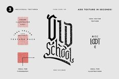 Old School Texture by Misc. Loot Co. on @creativemarket