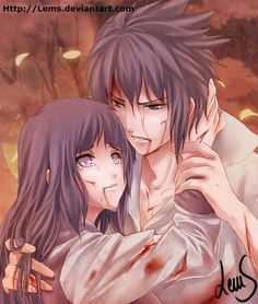 Sasuhina - Battle Torn by Lems on deviantART, omg i love this art!!!! I still ship this and i regret nothing . #its gonna happen #probably not....#definatly not