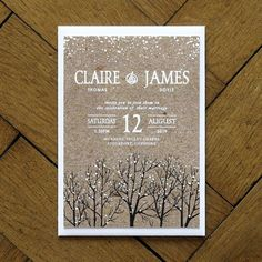winter snow wedding invitations and save the date by feel good wedding invitations | http://notonthehighstreet.com