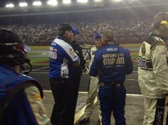 with team during rain delay @ Charlotte 5-18-13