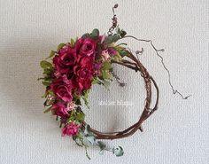 atelier BLUGRA八ヶ岳〜薔薇とユーカリの葡萄蔓Wreath4の画像1枚目