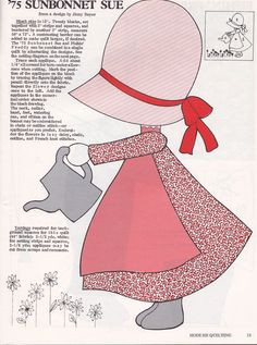 Free Sewing Sunbonnet Sue Pattern -