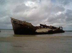 Destroços de Navio no Delta do Parnaíba - Tutóia - Maranhão - Brasil