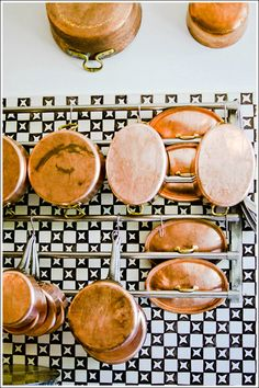 Navy Tile + Copper. Sirenuse Kitchen/ Photograph by Joy Zhang