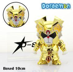 "Free Shipping Cute 4"" Doraemon DoraCat Cosplay Gemini Saint Seiya Myth Cloth Gold Ex PVC Action Figure Collection Model Doll Toy"