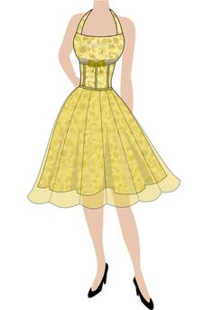 Retro halterneck dress. (currently up for voting - click the link and vote YES to give it a shot at production)