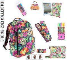 Vera Bradley school supplies if only I was rich I'd love to be able to get her this stuff School Supplies List Elementary, School Supplies Highschool, School Supplies Organization, Cute School Supplies, Back 2 School, Too Cool For School, School School, School Office, School Stuff