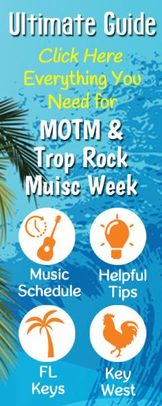 Ultimate Guide to Meeting of the Minds & Trop Rock Music Week. Schedules, Key West attractions & helpful tips for all Parrot Heads attending the convention.