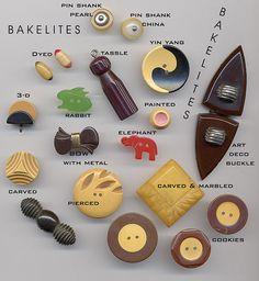 Bakelite Buttons by YaddaYaYa, via Flickr