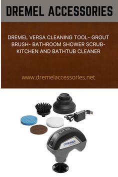Tough cleaning jobs are a thing of the past with the powerful and versatile Dremel Versa. High-speed scrubbing, in a compact size, is ideal for tackling soap scum, baked on food, difficult grease, dirt and much more. The lithium-ion battery charges fast and is perfect for indoor and outdoor, dry and wet uses. Bathtub Cleaner, Shower Scrub, Dremel Accessories, Soap Scum, Grout, Grease, High Speed, Compact, Sink