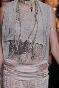 I love that metallic fabric