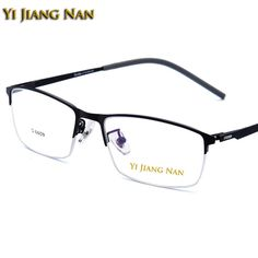 Men's Glasses Titanium Alloy Eyeglass Frame For Men Flexible Legs Ip Legs Electroplating Alloy Material Clear Frame Myopia Glasses Frame Handsome Appearance Apparel Accessories