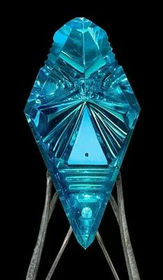 15000 carats blue topaz sculpture by Lawrence Stoller
