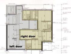 Estimulante sección con un muro quebrado que separa y une a la vez dos viviendas construidas dentro de un mismo volumen permitiendo que ambas tengan vistas y jardín en la Double House (Utrec…