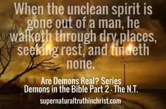 Demons in the Bible-NT