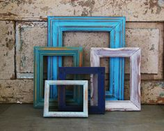 Picture Frame Gallery Seaside Shore by turquoiserollerset on Etsy, $52.00