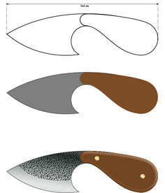 Types Of Knives, Knives And Swords, Leather Working Tools, Metal Working, Knife Shapes, Knife Template, Knife Patterns, Neck Knife, Metal Tools